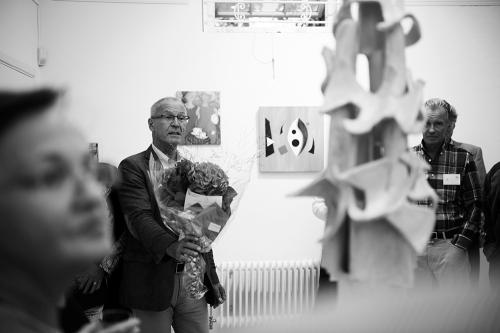 Anders Bergstrand med bukett. Foto: Malin Jochumsen