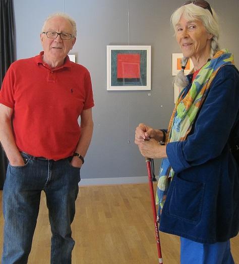 Kobinerat konst- och fritidsintresse, Carl-Evert Jonsson visar sina konstverk