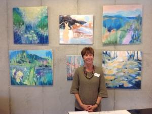 Elisabeth Setterberg visar sin konst i Danderyds församlingshus