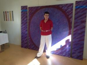 Hortensia Duque i ateljén Foto: Petra Szabo