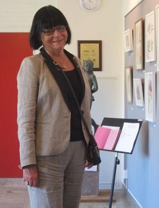 Konstrundans första dag, Kerstin Hassner, Danderyds kulturchef   på Danderydsgården