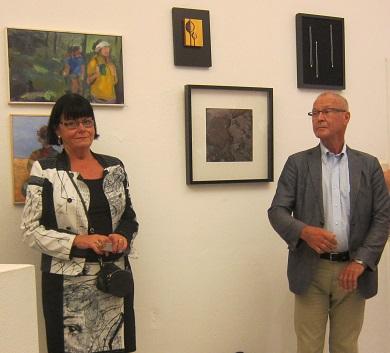 Kulturchef Kerstin Hassner och Kultur- och fritidsnämndens ordförande Anders Bergstrand representerar Danderyds kommun