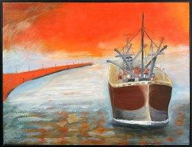 En lång resa mot abstrakt måleri – Coila Matton är augusti månadskonstnär